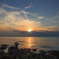 вечерком у моря :: Виктор Мороз