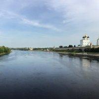 Панорама. Левый и правый берега р.Великой. :: tatiana