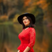 Девушка в красном :: Екатерина Overon