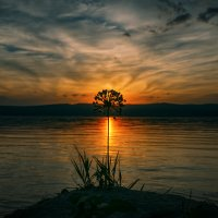 Про вечер и закат на Волге. :: Андрей Лепилин