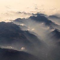 горы швейцарии из окна самолета 2 :: Андрей Бондаренко