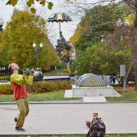 Жонглёр перед цирком на Цветном! :: Татьяна Помогалова