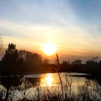 Осенний закат на реке Чулым 25,10,17г. :: Галина