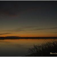 Закат солнца над рекой Онега в конце октября. :: Марина Никулина
