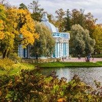 Грот в осеннем парке :: ирина )))
