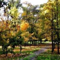 """картина """"  Осень в парке"""" :: Владимир Бровко"""
