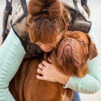 Если тебе нужен кто-то благодарный, заведи собаку. (Р. Харрис) Танечка и Полька❤ :: Лариса Сафонова