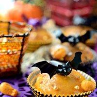 Тыквенные маффины с тыковками из маршмеллоу :: Marina Parshina