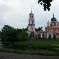 Воскресенский собор. Слева Соборный (Живой) мост через Перерытицу (Порусья) :: Елена Павлова (Смолова)