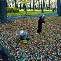 Дети и листопад... :: Sergey Gordoff