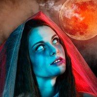 Рассвет красной луны... :: Вячеслав Владимирович