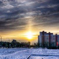 Питер Зимняя радуга проспект Космонавтов :: Юрий Плеханов