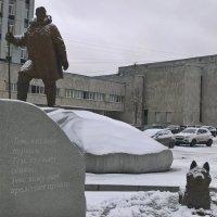 Памятник Полярникам снежный :: Митя Дмитрий Митя