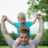 Папа и сын :: Дарья Бурмистрова