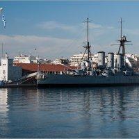Крейсер «Георгиос Авероф» в порту г.Салоники. :: Lmark
