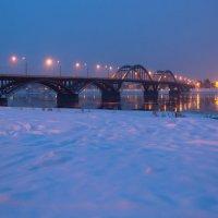Утренний Рыбинск сегодня утром. Взгляд на Мост. :: Горелов Дмитрий