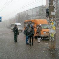 Снежок в городе :: Сергей Тарабара
