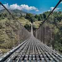 Непал. Покхара. Подвисной мост :: Gal` ka