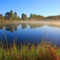 Над озером туман молочный стелется. :: Иван