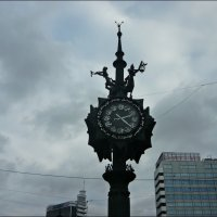 Скульптурная композиция-Бронзовые часы :: Надежда