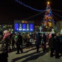 Открытие Новогодней ёлки на пл. Юности 23 декабря 2017г. :: Виктор Иванович