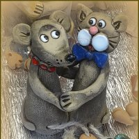 Мышка и кошка :: Вера