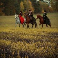 На лошадях по полю.. :: Виктор Перякин