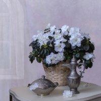 Натюрморт с белой азалией :: Ирина Приходько