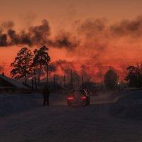 морозный закат :: Александр Решетников