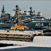 Новогодний пейзаж с эсминцами... :: Кай-8 (Ярослав) Забелин