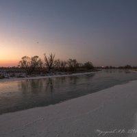 Закат на реке Цна в Тамбовской обл. 14 января 2018 г. :: Александр Тулупов