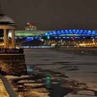 Пушкинская набережная и Пушкинский ( Андреевский ) мост :: Анатолий Колосов
