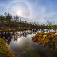 Солнечное гало и остров :: Фёдор. Лашков