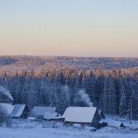 «Зимнее утро в деревне » :: Александр Гладких