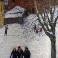Проходной двор в зимний день ... :: Лариса Корженевская