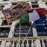Venezia.Bandiere Venezia, Italia,unione Europea. :: Игорь Олегович Кравченко