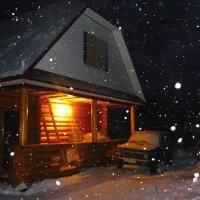 Зимний вечер на даче :: Алла ZALLA