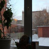 Вид в окно провинциального городка. :: Олег Афанасьевич Сергеев