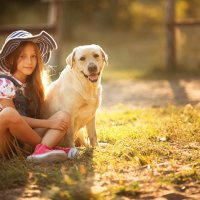 девочка  с собакой :: Валерия Мороз
