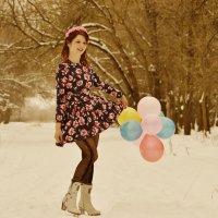 Мари танцевать в зимнем лесу :: Роза Бара