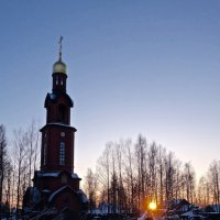 закат зимнего дня :: Елена