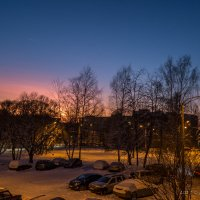 Красота, которая рядом... заход солнца .. вид из окна... :: Алексей Сопельняк