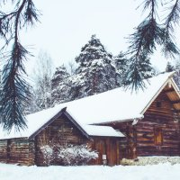 Дом в снегу :: jenia77 Миронюк Женя