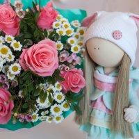 Нежный букет для дочки в День Рождения :: Наталья Тривайлова