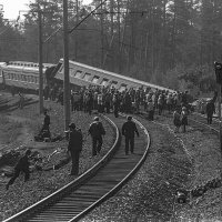 Перегон Братск - Вихоревка, 1980 г. Я ехал в этом поезде. :: Игорь Олегович Кравченко