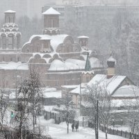 Храм (снегопад 4 февраля) :: Ирина Шарапова