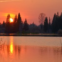 Весенний закат на Лологе :: Роман Пацкевич
