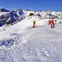 Панорама 5 очереди горнолыжного комплекса Домбай :: Вячеслав Случившийся