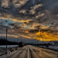 Рассвет на улице Ленина Шушары :: Юрий Плеханов