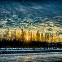 Рассвет на Третьем Бадаевском проезде :: Юрий Плеханов